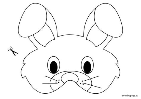 printable bunny eyes rabbit mask template carnival pinterest coloring