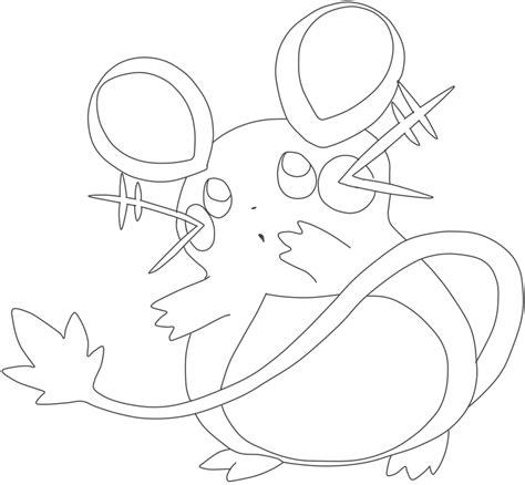 pokemon coloring page dedenne dedenne coloring pages coloring pages