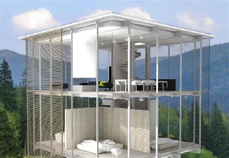 Modern Glass House transparent glass house design ideas on the outskirts of