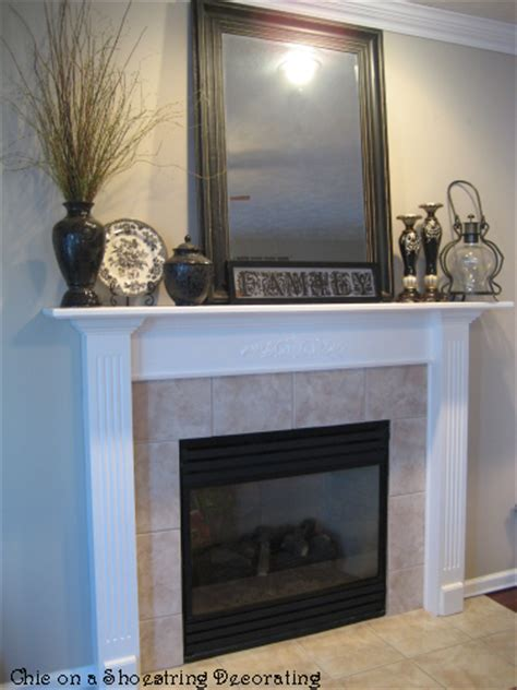 easy fireplace makeover chic on a shoestring decorating cheap easy fireplace