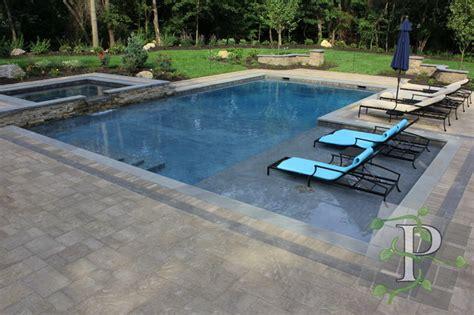 Cold Spring Harbor Gunite Pool Spa Traditional Pool Gunite Swimming Pool Designs