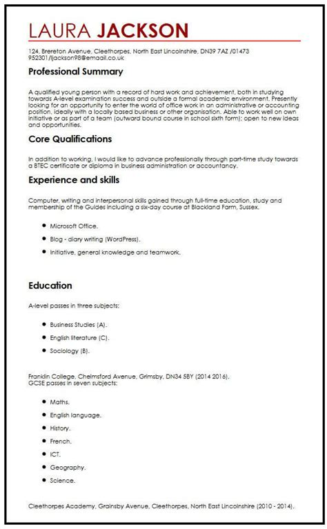high school student resume templates no work experience resume and