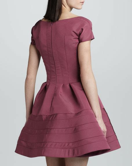 Flare Dress Orchid zac posen sleeve fit and flare dress orchid