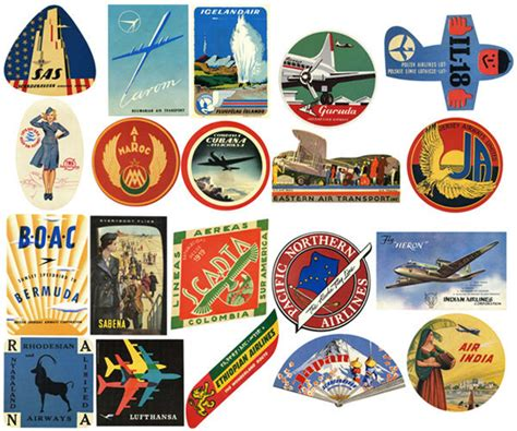 free printable airline luggage tags 20 vintage airline luggage labels air travel digital