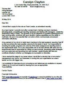 team leader cover letter exle forums learnist org