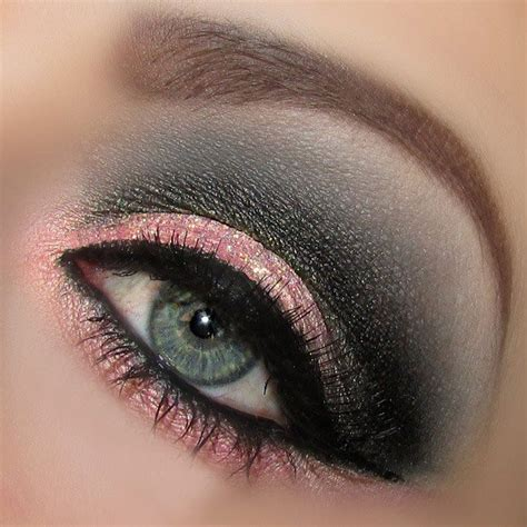 the pink and grey look nice with the paint color eden s nice pink grey look eyes makeup lips pinterest
