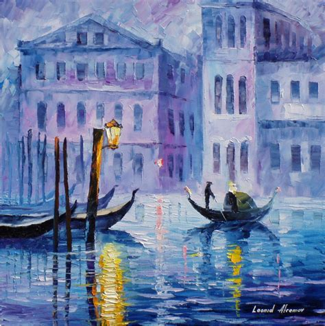 Wall Murals Cityscapes mystery of venice palette knife oil painting on canvas by