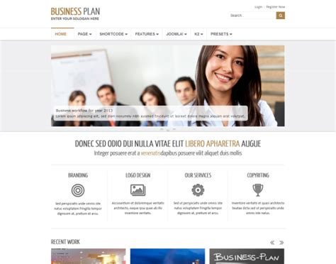 free responsive joomla templates for business business plan ii free responsive business joomla template