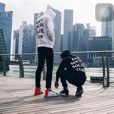 Hoodie Sweater Anti Social Social Club Assc Real Pict anti social social club pouch hoodie white