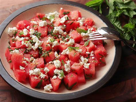 watermelon recipe watermelon and mint salad recipe dishmaps
