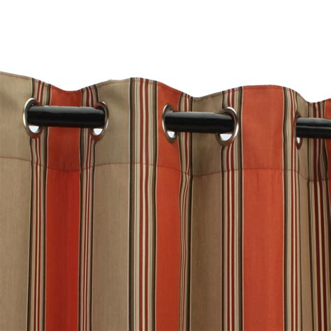 brown striped curtain panels outdoor curtain panels inspiration homesfeed