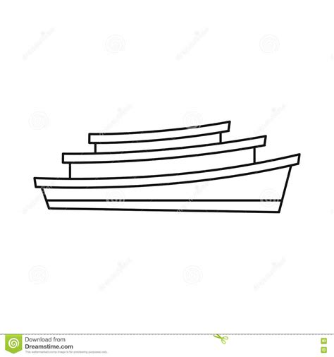 houseboat outline houseboat cartoons illustrations vector stock images