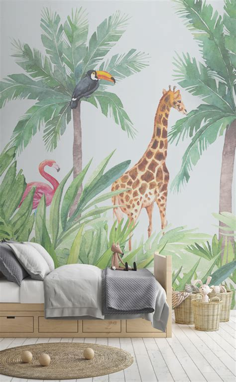 Jungle Bedroom Wallpaper Murals Nursery Wallpaper Ideas For Your New Baby Murals