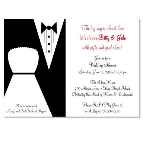 Bridal Shower Gift From Of Groom by And Groom Custom Bridal Shower Invitation On Luulla