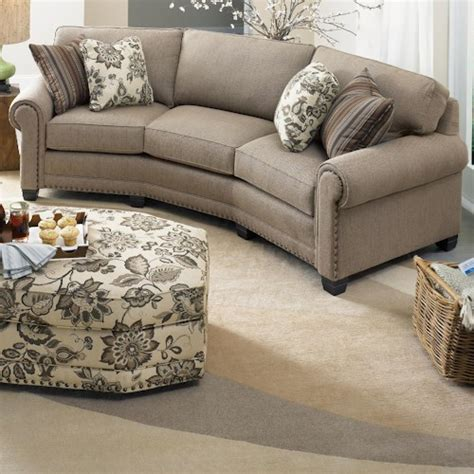 Conversational Sofas by Smith Brothers 393 Traditional Conversation Sofa With