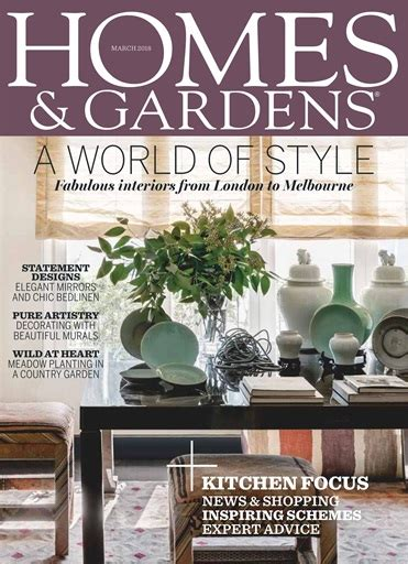 homes gardens magazine march  subscriptions
