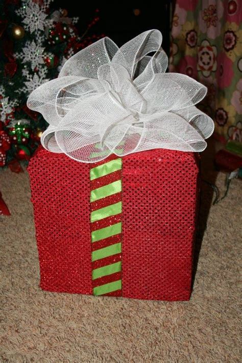 how to make a wire christmas gift box on pinterest caja de regalo iluminada dale detalles