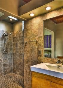 doorless showers open a world of possibilities open shower reminiscent of a spa bathroom design photo