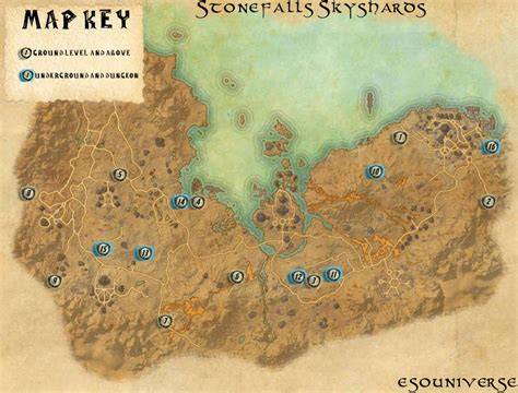 skyshard eso locations map elder scrolls online stonefalls skyshard location guide