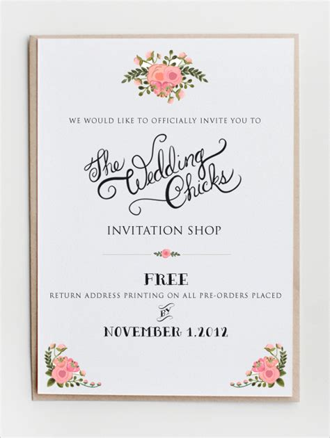 free wedding invitation websites top ten websites that offer free printable invitations