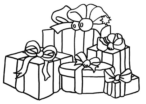 coloring page of christmas presents christmas gift coloring pages