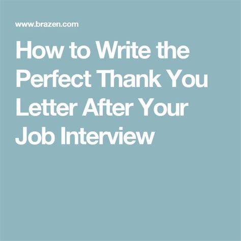 write  perfect   letter   job