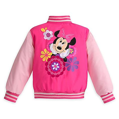 jacket minnie mouse pink rsby 184 disney pink minnie mouse varsity jacket for size 9