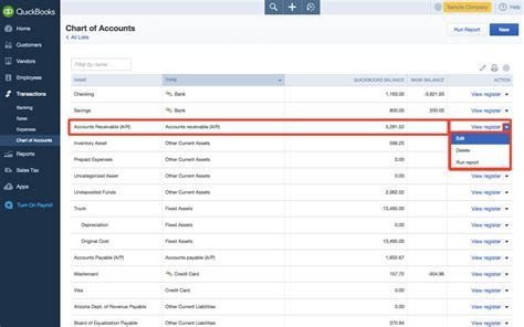 quickbooks tutorial chart of accounts how to edit chart of accounts in quickbooks