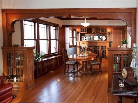 craftsman style dining room  original woodwork