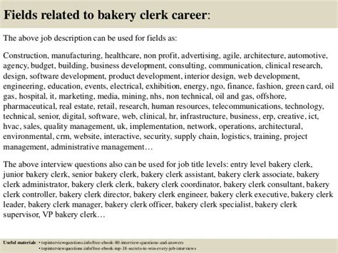 top 10 bakery clerk questions and answers