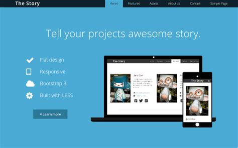 bootstrap v2 3 2 themes download the story flat business bootstrap template v2 6