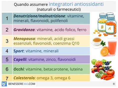 alimenti ricchi di antiossidanti naturali integratori antiossidanti naturali e farmaceutici cosa