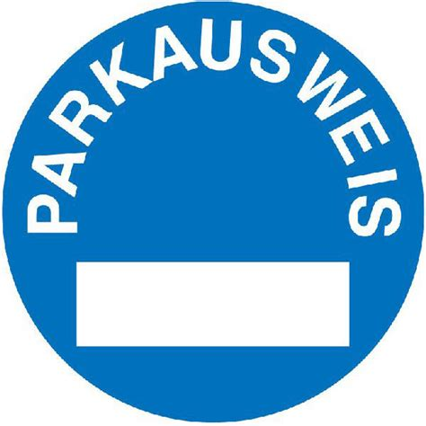 Blauer Aufkleber Windschutzscheibe by Parkausweise Online Shop