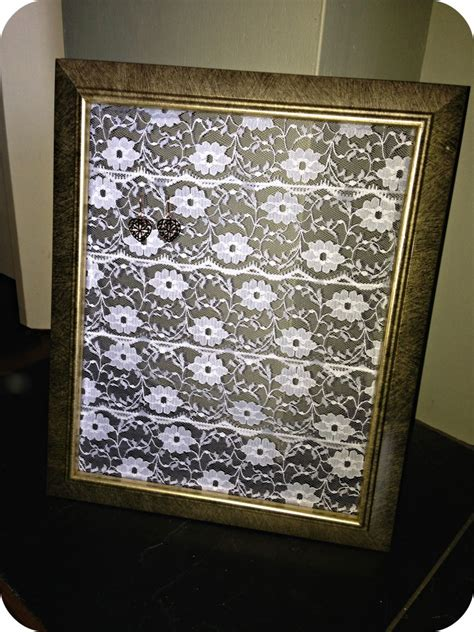 Handmade Earring Holder - handmade lace earring holder renovation bay bee