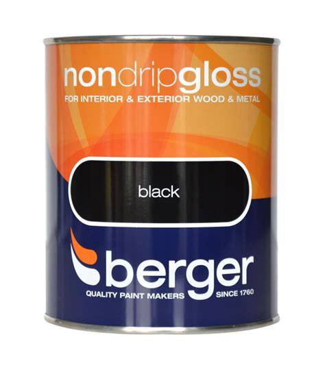 berger non drip gloss 750ml interior exterior wood metal paint in all colour ebay