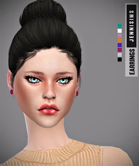 bow eye hair accessory at jenni sims 187 sims 4 updates jenni sims set accessory hat koala earrings and bow