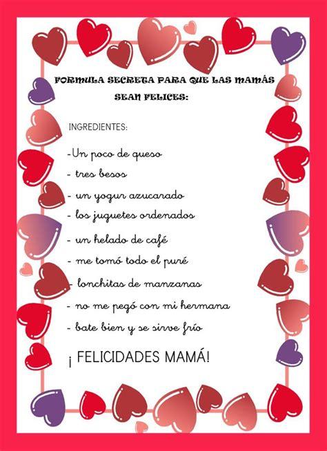 poesias al dia de la madre con 6 estrofas recursos de educaci 211 n infantil poes 205 as para el d 205 a de la