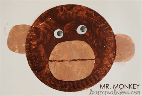 Paper Plate Monkey Craft - 6 best images of paper plate template printable paper