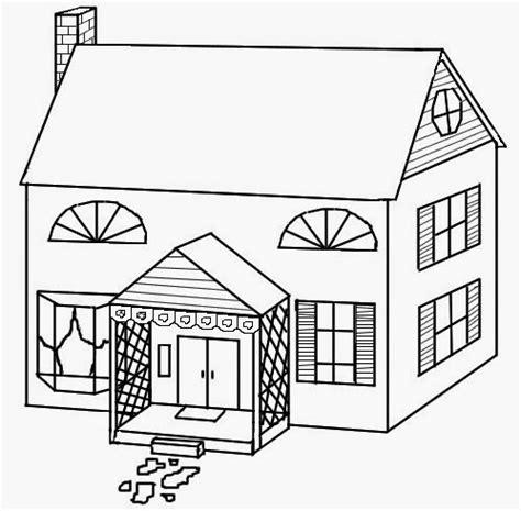 aneka sketsa gambar mewarnai rumah bahasapedia bahasapedia