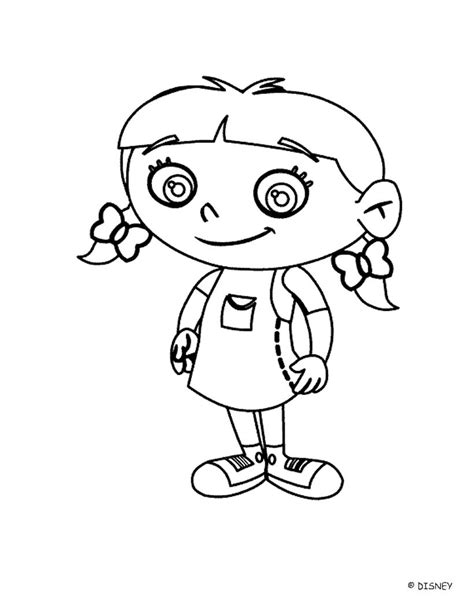 Tiny Coloring Pages Little Einsteins Coloring Pages Smiling Annie Little by Tiny Coloring Pages