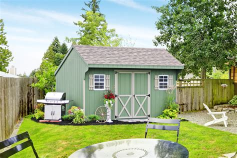 buy  outdoor vinyl sided storage shed   amish