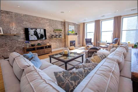 New York Living Room Design Tuscan Style Loft Transitional Living Room New York