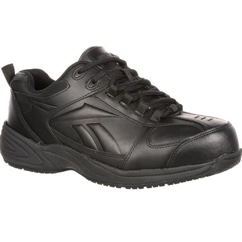 athletic steel toe work shoes reebok slip resistant athletic work shoe w composite toe