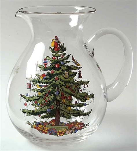 spode christmas tree green trim 96 oz pitcher 5762637 ebay