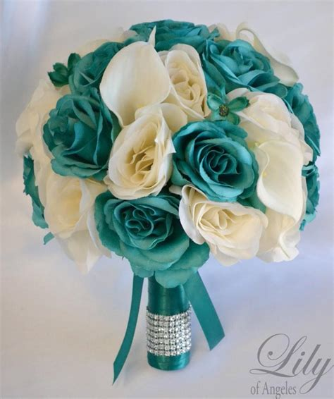 17 package bridal bouquet wedding bouquets silk