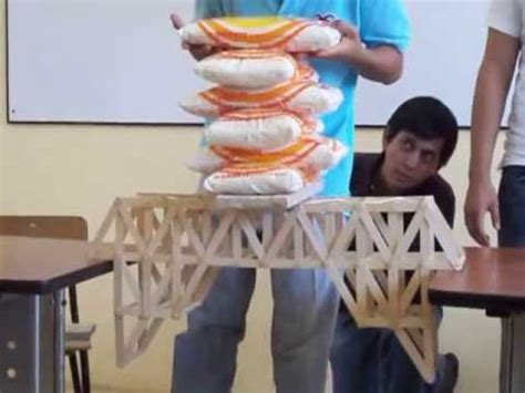 puentes hechos de palillos de elados puente warren de paletas de helado youtube
