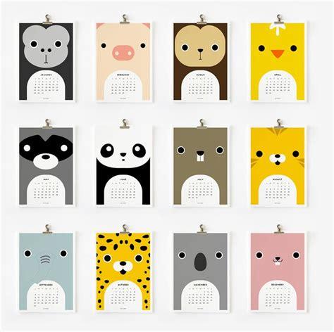 2012 Cute Animal Calendar Etsy Loopzart So Cuuute
