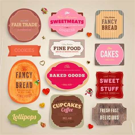 food label design exles cute food labels design vector 02 labels and tags