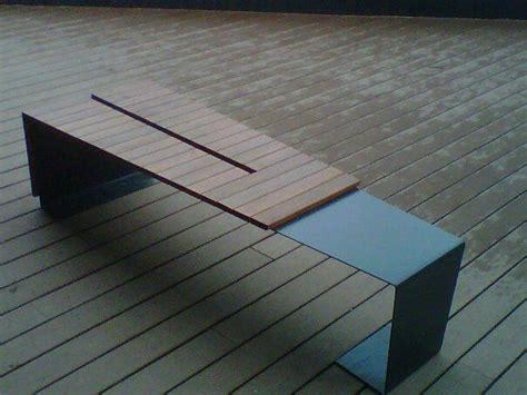 ipe bench modern design ipe wood and metal bench www