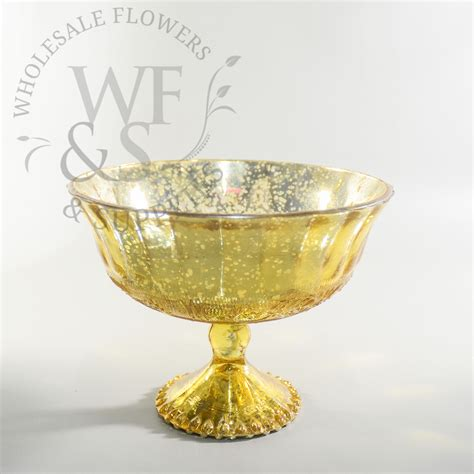Gold Pedestal Vase by Glass Pedestal Bowl Gold Wholesale Flowers And Supplies